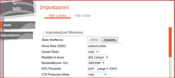 cambio canale wifi
